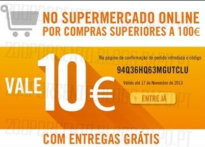 Vale de 10€ em | EL CORTE INGLÉS | Supermercado até 17 novembro