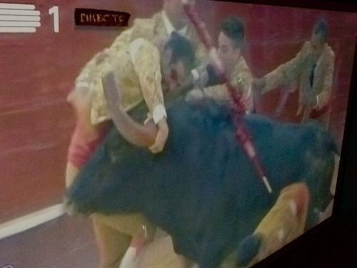 XX Grande Corrida TV Norte. 3.ª pega da noute: João Espinheira, Forcados Amadores do Ribatejo.