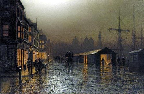 Arthur E. Grimshaw - Hull Docks by Night