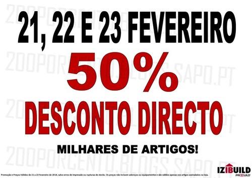 50% de desconto directo   IZIBUILD   de 21 a 23 fevereiro