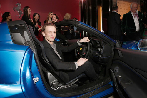 Jamie+Campbell+Bower+Ferrari+488GTB+UK+Launch+KeIS