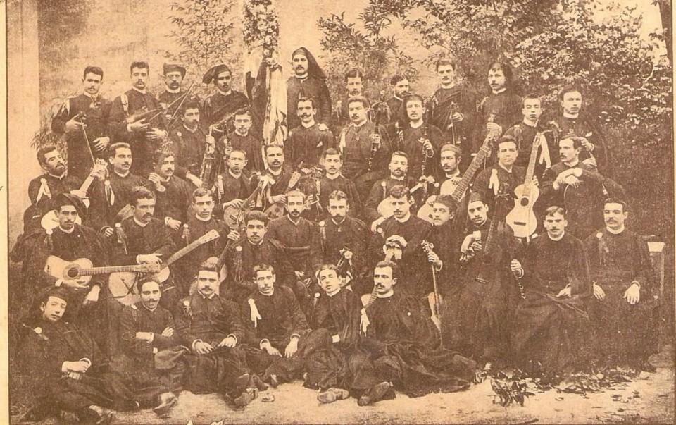 Estudantina de Coimbra em 1888 (Photo Moderna. Por