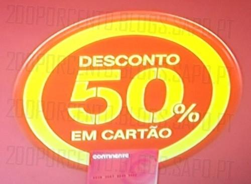 50% de desconto | CONTINENTE | em vestuário de adulto ( não inclui acessórios, sapatos, ... )