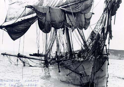 Inger, Norwegian barque wrecked St. Pierre