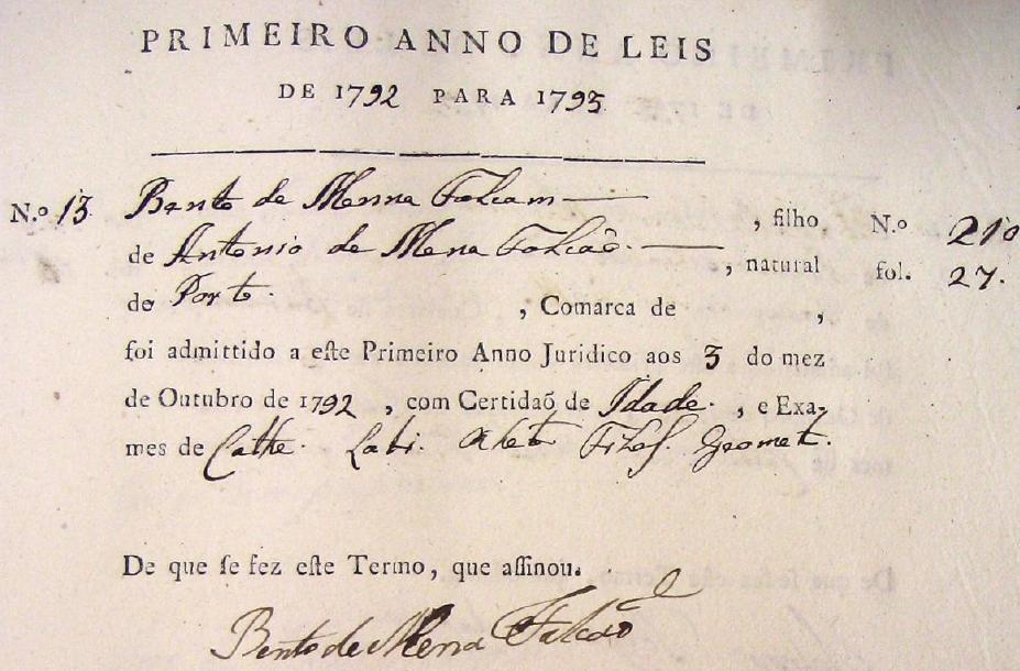 Livro de Matrículas, Vol.21. (1792-1793), fl.17.p