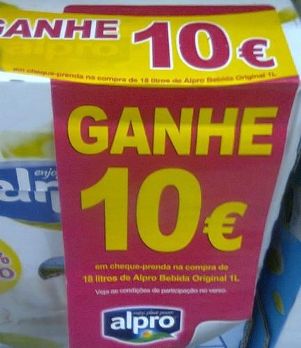 Ganhe 10€ em cheque-Prenda   CONTINENTE   Alpro