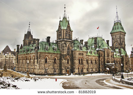 stock-photo-gothic-revival-building-of-canadian-pa