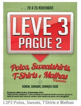 Leve 3 Pague 2 | CODE / PINGO DOCE | de 20 a 26 novembro