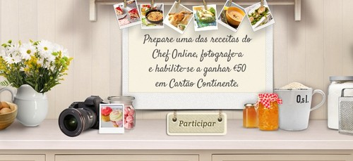 Passatempo | CONTINENTE | Ganhe 50€ em cartão - Chef Online