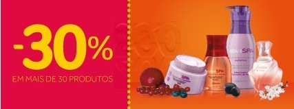 30% ou +  no Boticário em mais de 30 Produtos