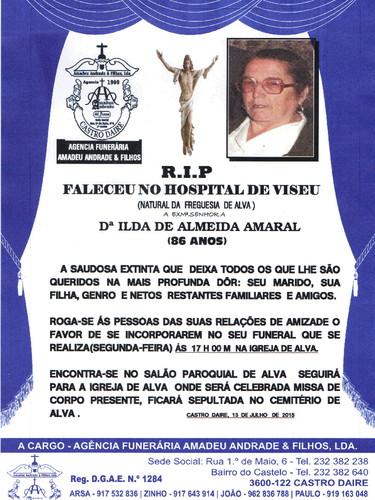 RIP- DE ILDA DE ALMEIDA AMARAL-86 ANOS (ALVA) 001.
