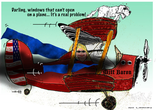 mitt romney airplane windows