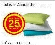 25% de desconto | CONTINENTE | Almofadas