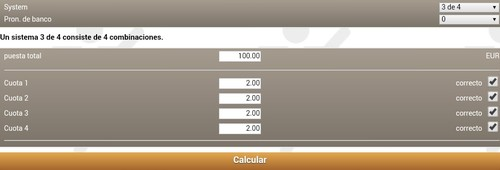 Calculadora para apostas desportivas