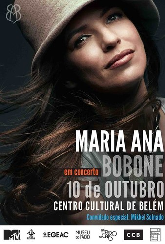 MARIA ANA BOBONE | 10 DE OUTUBRO | CENTRO CULTURAL DE BELÉM | 21:00H