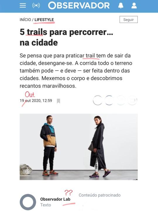 Jornalistas analfabetos, português de merda, in Observador, 20/X/20