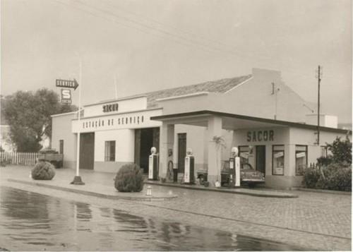 Estação de Serviço de S. Brás de Alportel (E.N. 2), Algarve (Espólio da Sacor, 195...)