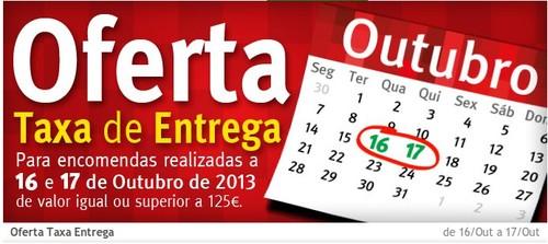 Oferta Taxa Entrega   JUMBO   dias 16 e 17 Outubro