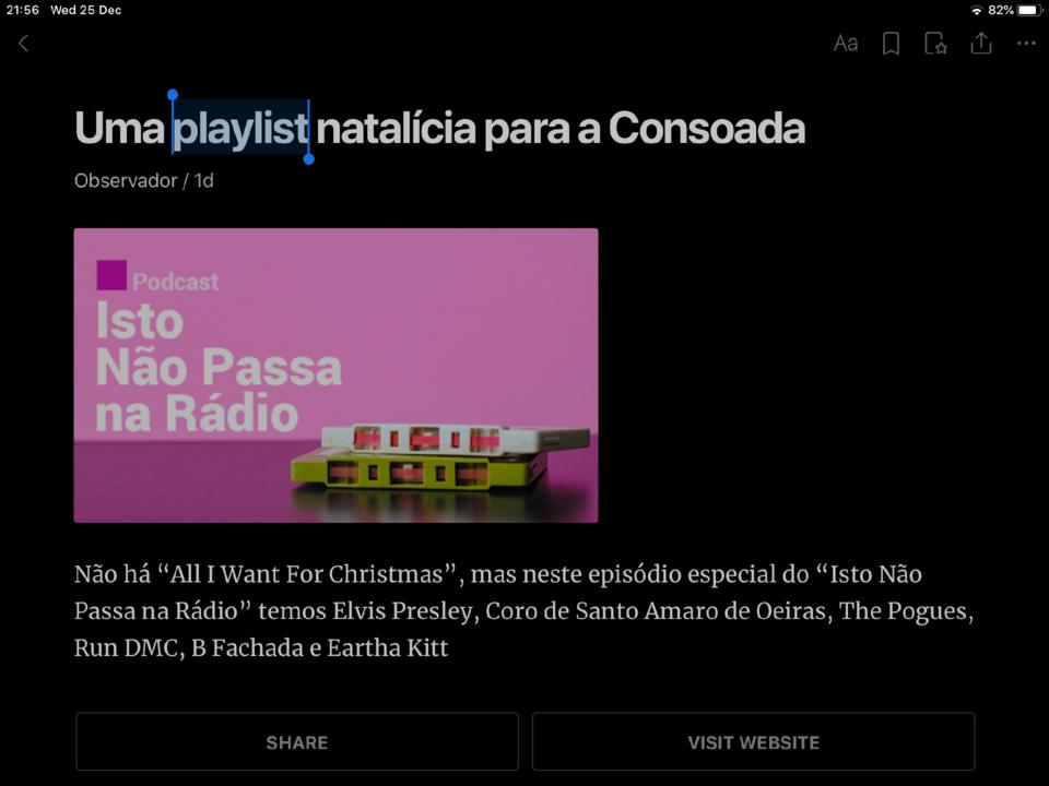 Pelai lista, pó de casta, e coro de bárbaros para a canzoada lusófona ou, como soa o português no Natal de 2019
