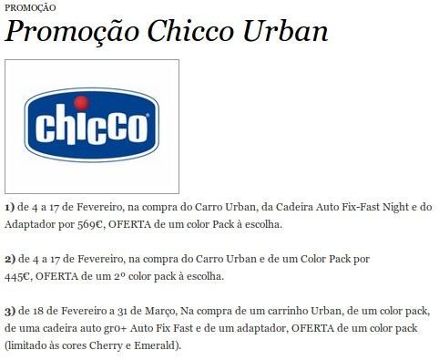 Promoção   EL CORTE INGLÉS   Chicco Urban