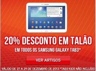 20% desconto | WORTEN | Samsung Galaxy TAB3