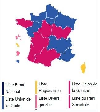 França eleições regionais 13Dez2015 resultados