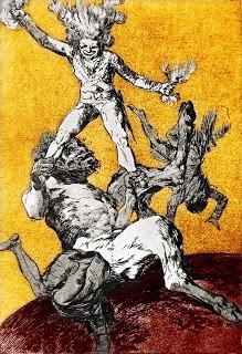 Grabado de Francisco de Goya Subir e bajar in. ninhachica.blogspot.com