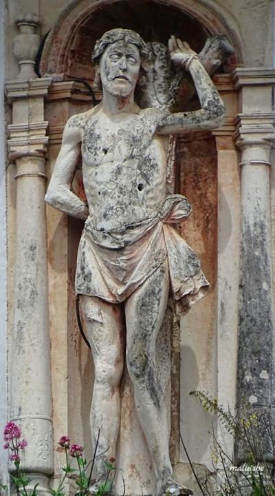 Aqueduto. Arco de S. Sebastião, imagem de S. Seba