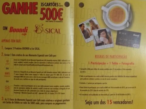 Ganhe 15 cartões de debito de 500€ | CONTINENTE | Sical / Buondi
