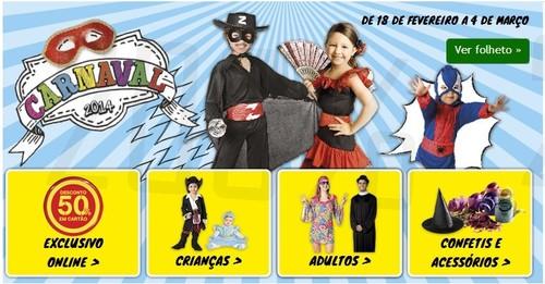 Carnaval   CONTINENTE   com descontos de 50% Exclusivos Online