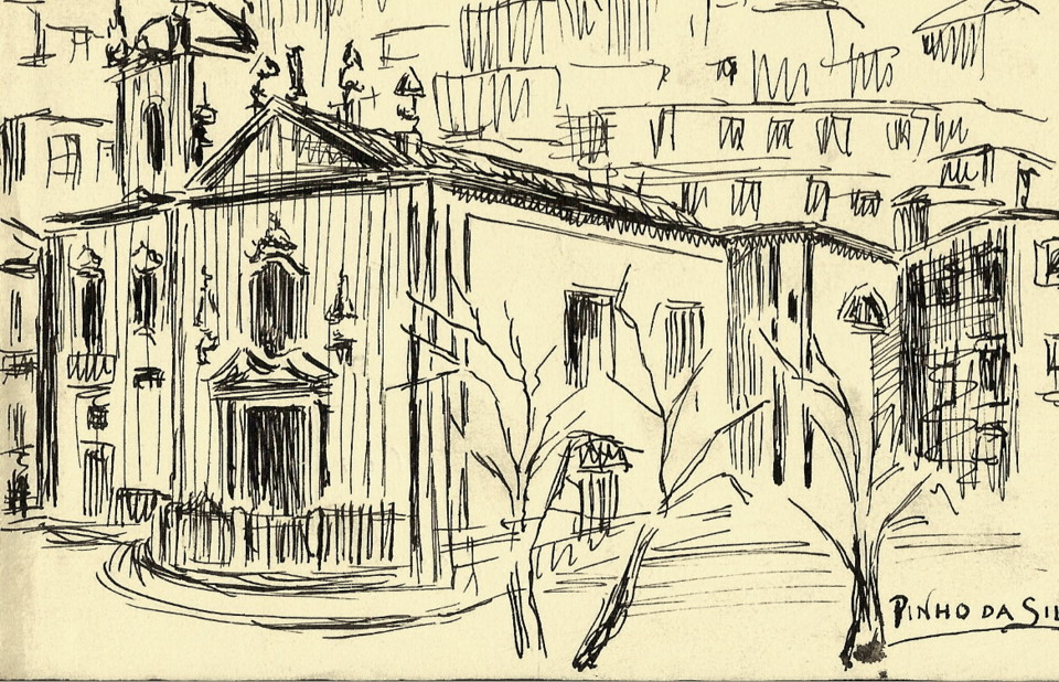 Igreja de Miragaia onde foi baptizado o poeta Toma