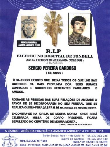 RIP- DE SERGIO PEREIRA CARDOSO--66 ANOS (MOURA MOR