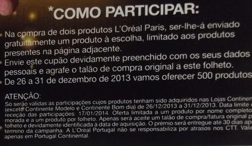 Oferta L'oréal   CONTINENTE   até 31 dezembro