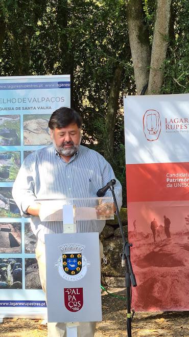 Eng. Francisco Pavão na apresentação do primeiro vinho de lagar rupestre certificado