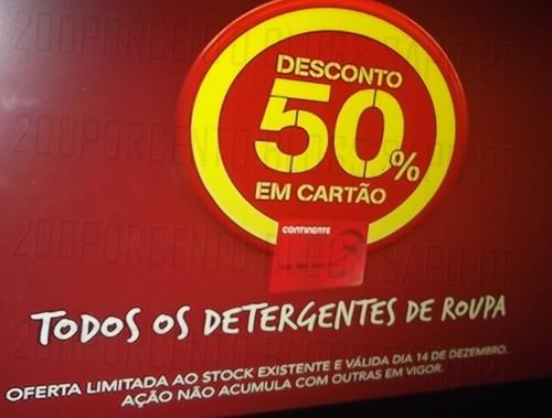 50% desconto direto | CONTINENTE | Detergentes de roupa - dia 14 dezembro