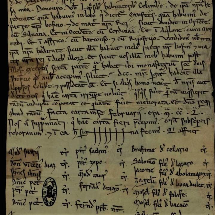Fig. 32 - Carta venditionis da hereditate in loco