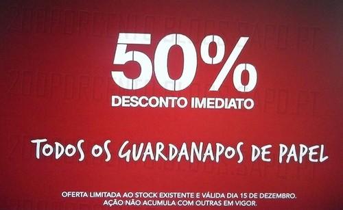 Acumulação 50% + 50% | CONTINENTE | Guardanapos