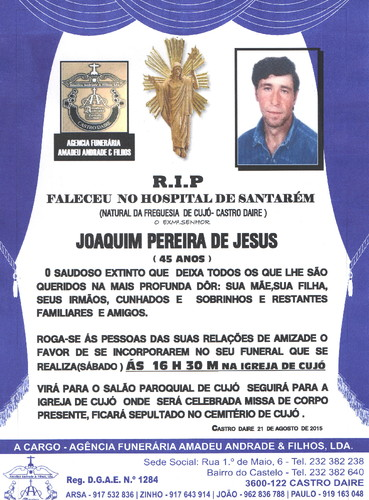 RIP- DE JOAQUIM PEREIRA DE JESUS-45 ANOS (CUJÓ).j