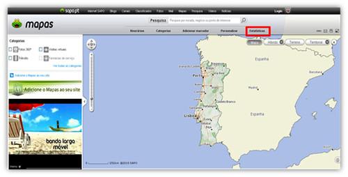 Estatísticas SAPO Mapas