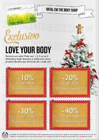 Novo Folheto   THE BODY SHOP   Com Vales de desconto :)