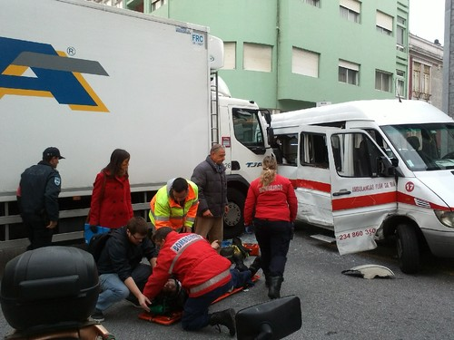 Acidente rua do Rosário - rua do Brayner 8Nov2016