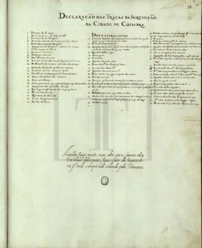 Declaração das traças da Inquisição da cidade