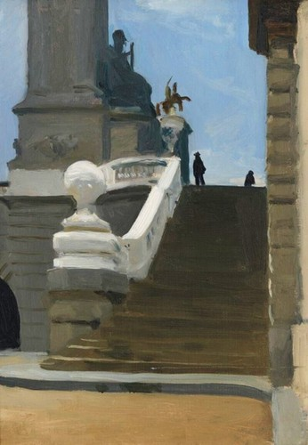 Edward Hopper, Two Figures at Top of Steps in Pari