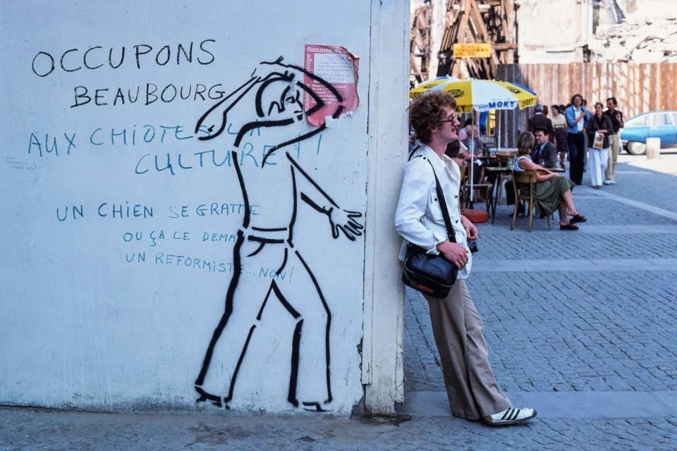 Man Standing Near Graffiti, Paris.jpg