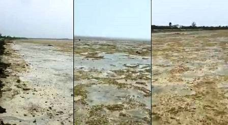 ocean waters disapearing in Long Island Bahama's.j