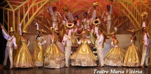 Final de revista no teatro Maria Vitoria - Nelson Camacho D'Magoito