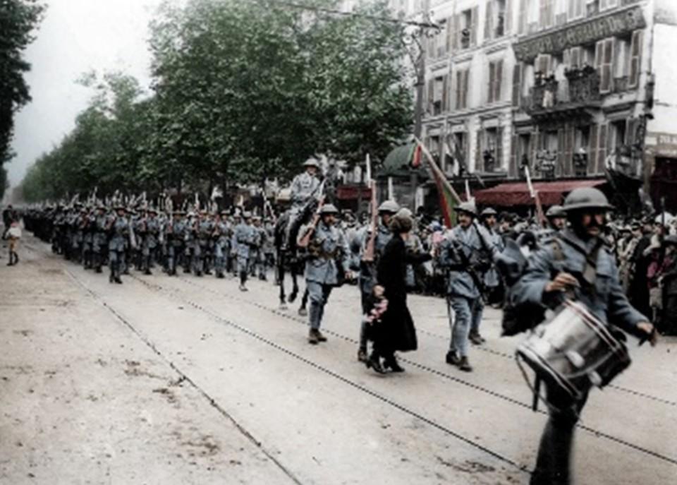 Desfile do 14 de julho de 1918 das tropas portugue