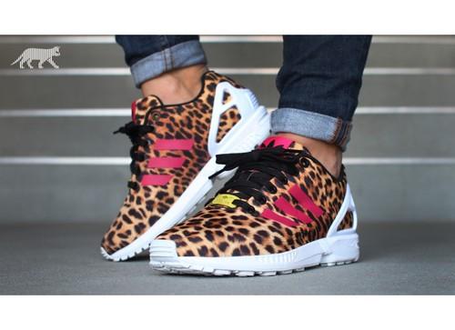adidas-zx-flux-w- leopard -(black-vivid-bery-ftw-w