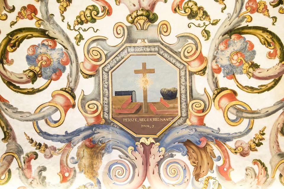 Capela da Universidade de Coimbra, pormenor do tet