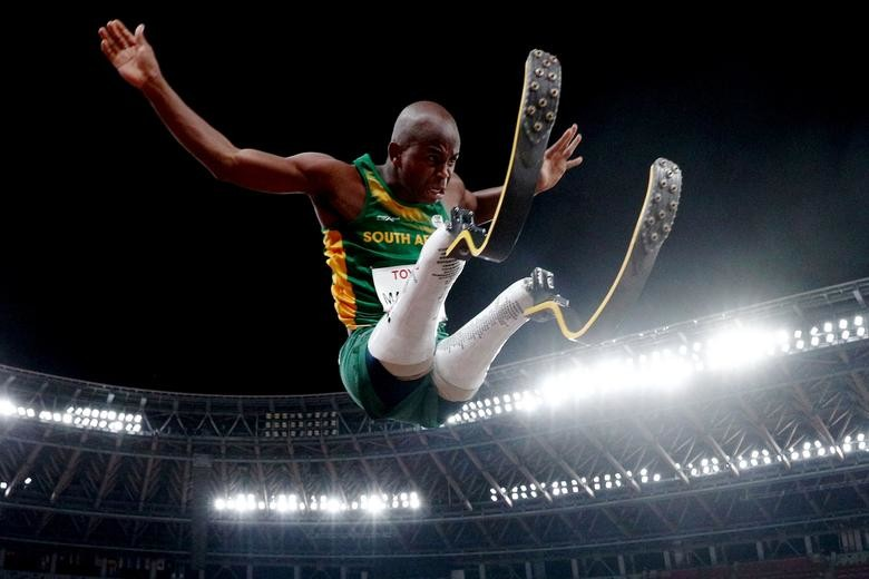 Ntando Mahlangu of South Africa in action during t